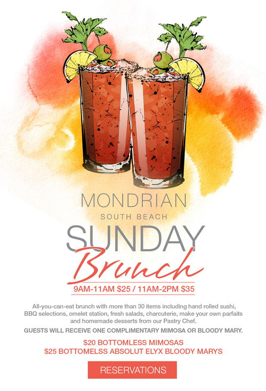 sunday brunch mondrian caffe